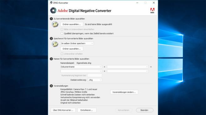 Adobe DNG Converter & Camera Raw ©COMPUTER BILD