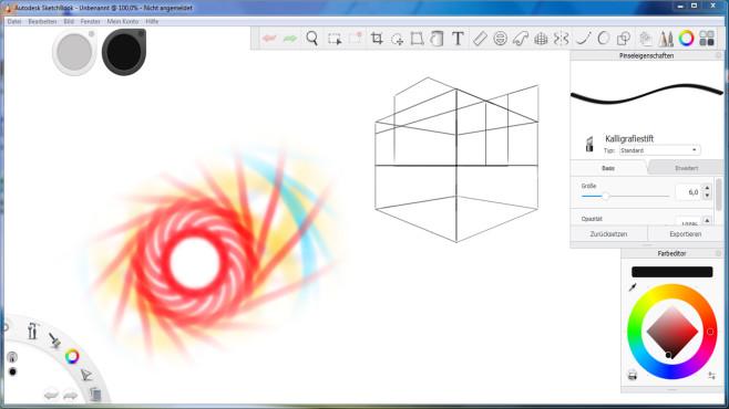 Autodesk Sketchbook – Kostenlose Vollversion ©COMPUTER BILD, Autodesk