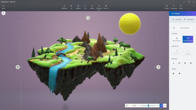 Microsoft Paint 3D (Windows-10-App): Dreidimensionale Objekte erschaffen ©COMPUTER BILD
