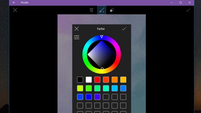 PicsArt Photo Studio (Windows-10-App) ©COMPUTER BILD