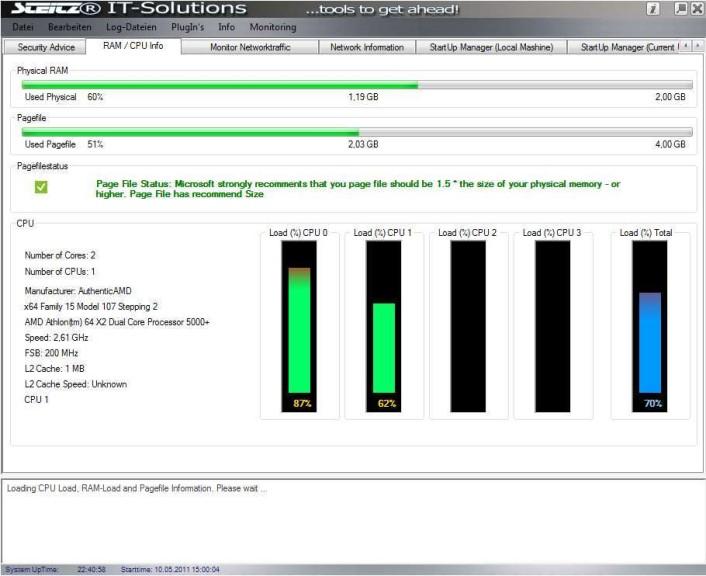 Screenshot 1 - Performance Analyzer and Security Tool