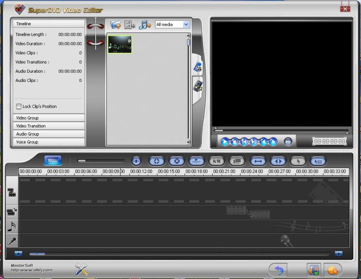 Screenshot 1 - SuperDVD Video Editor