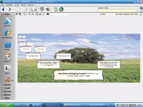 Ahnenforschungs-Programm: Der Ahnenforscher 4.0