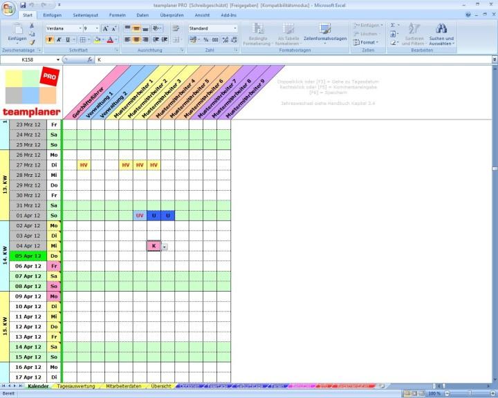 Screenshot 1 - Teamplaner Pro