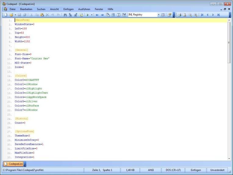 Screenshot 1 - Codepad