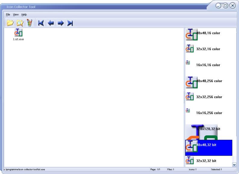 Screenshot 1 - Icon Collector Tool