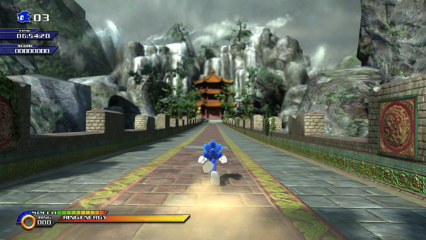 Actionspiel Sonic Unleashed: Mauer