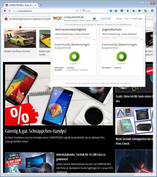 Screenshot 1 - WOT für Firefox