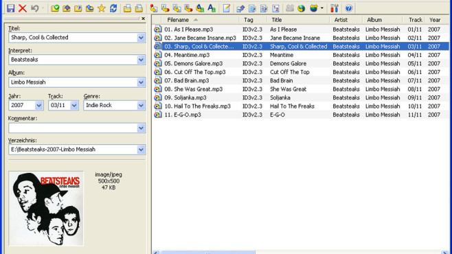 Screenshot MP3TagEditor©COMPUTER BILD
