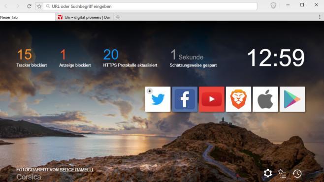 Brave: Aufs Wesentlich reduzierter Browser ©COMPUTER BILD
