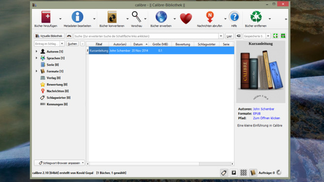 Calibre: E-Books verwalten und umwandeln ©COMPUTER BILD