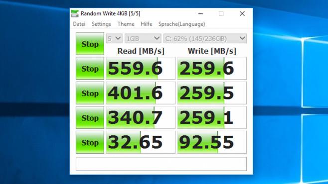 CrystalDiskMark: Laufwerk-Tempo messen ©COMPUTER BILD