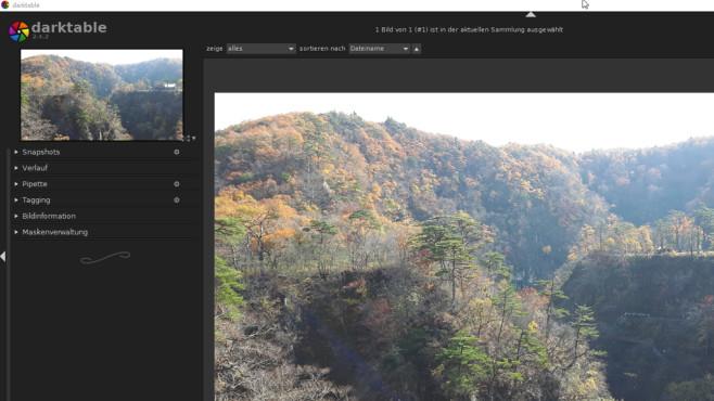 Darktable: Bilder bearbeiten ©COMPUTER BILD