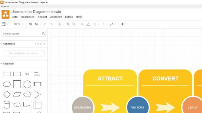 Draw.io: Diagramme und weitere Grafiken erstellen ©COMPUTER BILD