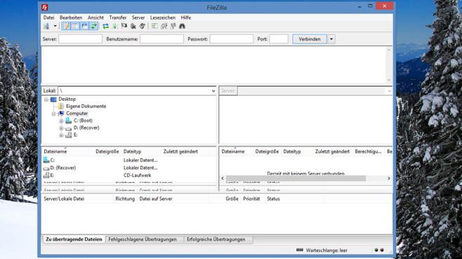 FileZilla: Daten auf FTP-Server laden ©COMPUTER BILD