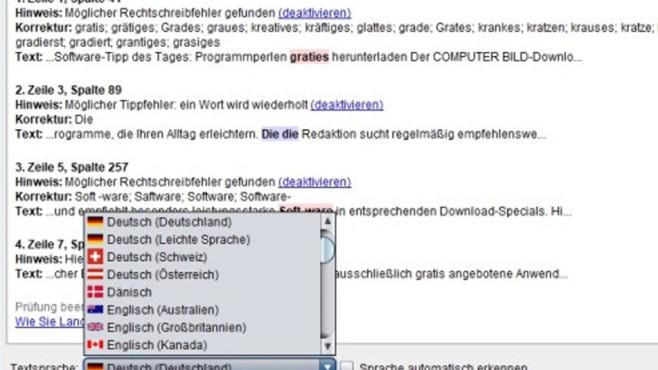 LanguageTool: Fehler in Texten aufspüren ©COMPUTER BILD