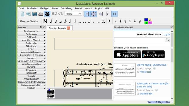 MuseScore: Komponieren am PC ©COMPUTER BILD