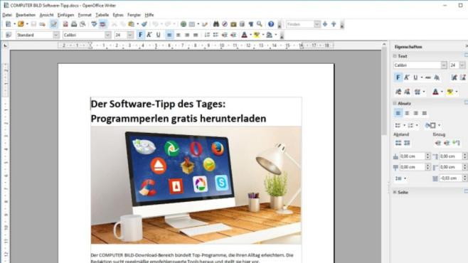OpenOffice: Kostenloses Büropaket ©COMPUTER BILD