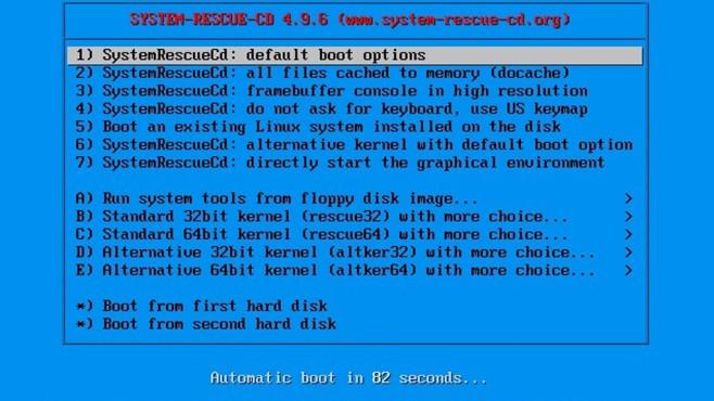 SystemRescueCD: Rettungsdatenträger für vieles ©COMPUTER BILD