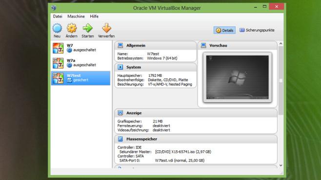 VirtualBox: Betriebssysteme gefahrlos testen ©COMPUTER BILD