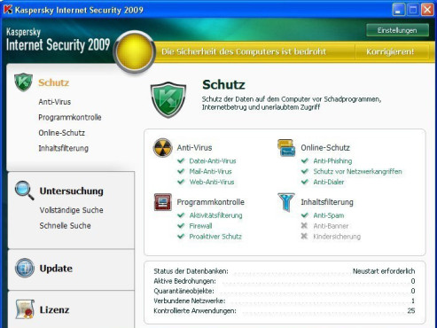 Die 50 beliebtesten Downloads im August Platz. 45: Kaspersky Internet Security