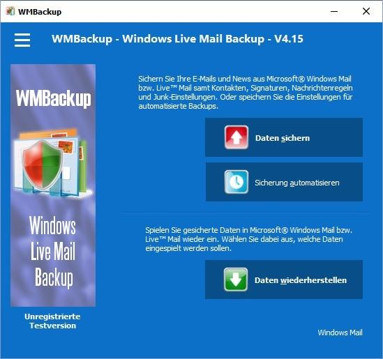 Screenshot 1 - WMBackup
