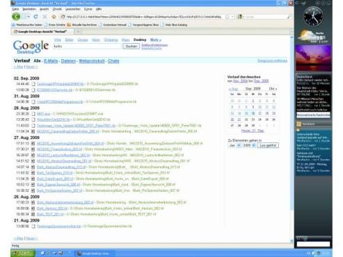 Google Desktop Search 8 ©COMPUTER BILD