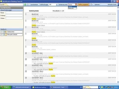 Mindbreeze Desktop Search 3.0.1.306 ©COMPUTER BILD