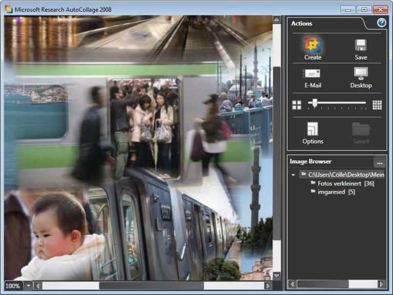 Screenshot 1 - Microsoft AutoCollage 2008