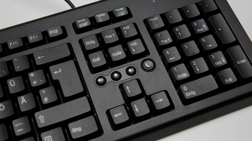 Nahaufnahme der Sondertasten einer Tastatur