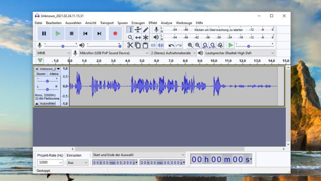 Audio-Tools für lau: Musik wiedergeben, bearbeiten und umwandeln Mit Audacity bearbeiten Sie neben Musikdateien Mitschnitte Ihres PC-Mikrofons. Früher war das Nachrüsten des LAME-Codes nötig, um in MP3 zu encodieren; das ist seit einem Update derweil obsolet.©COMPUTER BILD