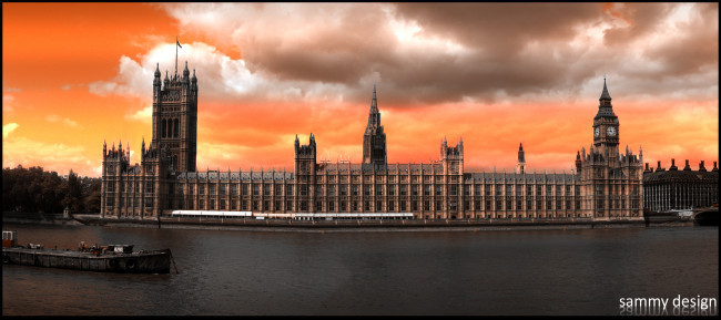 Houses of Parliament in London.