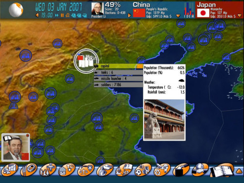 Simulation Geo-political Simulator: Peking