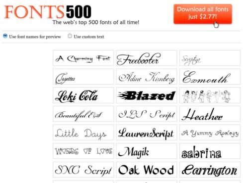 Gratisfonts: Fonts 500 ©Fonts 500