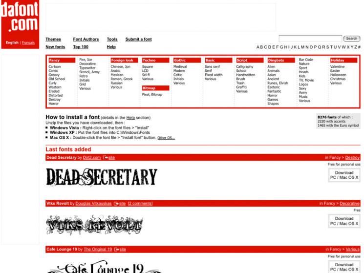 Empfehlenswerte Internetseiten Für Schriften Bilder Screenshots
