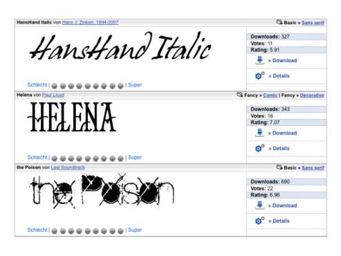 Kostenlose Fonts ©kostenlose-fonts.de