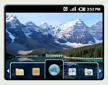 Google-Betriebssystem Android: Browser ©Google