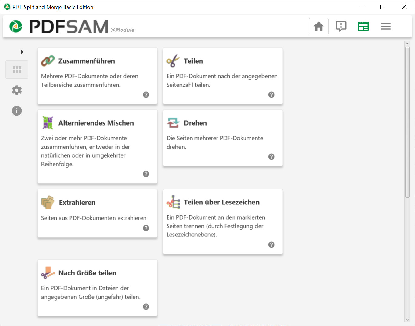 Screenshot 1 - PDFsam (PDF Split and Merge)