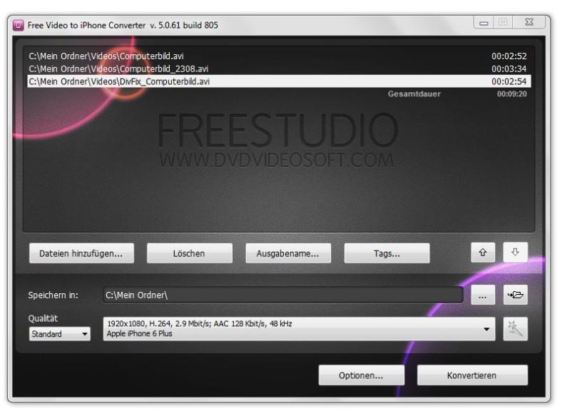 Screenshot 1 - Free Video to iPhone Converter