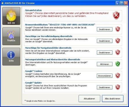 Platz 26: Kill-ID für Chrome