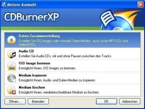 Platz 9: CDBurnerXP