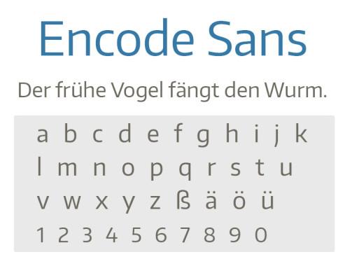 Encode Sans ©COMPUTER BILD