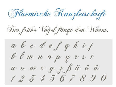 Gratis-Schriften zum Herunterladen Flämische Kanzleischrift ©COMPUTER BILD