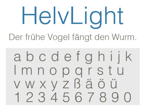 Gratis-Schriften zum Herunterladen: HelvLight ©COMPUTER BILD