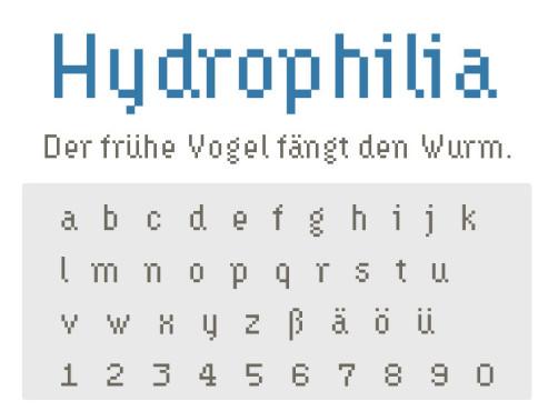 Gratis-Schriften zum Herunterladen: Hydrophilia ©COMPUTER BILD