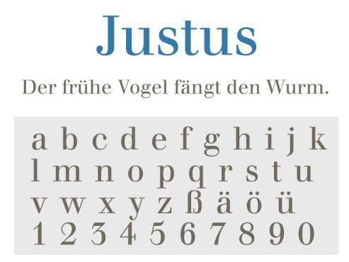 Gratis-Schriften zum Herunterladen: Justus ©COMPUTER BILD