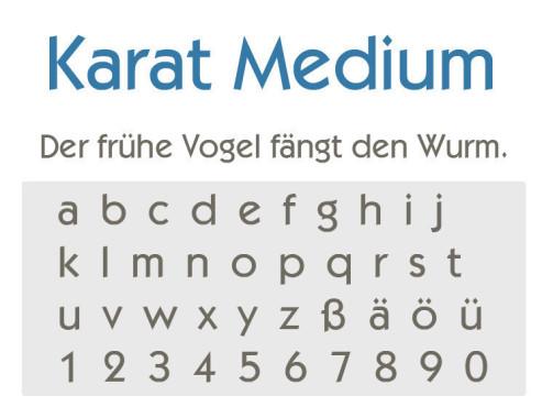 Gratis-Schriften zum Herunterladen Karat Medium ©COMPUTER BILD