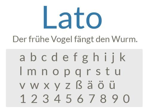 Gratis-Schriften zum Herunterladen: Lato ©COMPUTER BILD