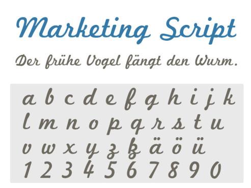 Gratis-Schriften zum Herunterladen: Marketing Script ©COMPUTER BILD
