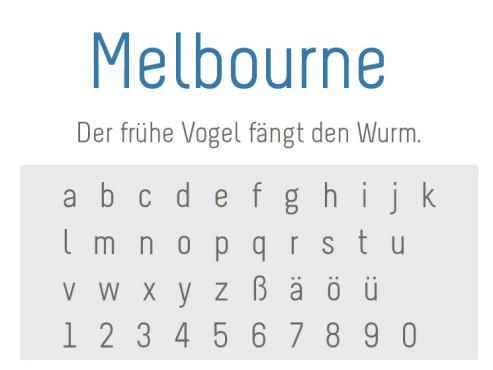 Gratis-Schriften zum Herunterladen: Melbourne ©COMPUTER BILD